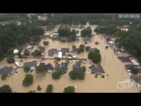 8-13-16 Catastrophic Flooding - Central Louisiana From The Chopper