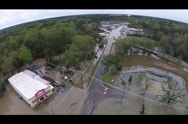 Aerial Footage Of Hammond/SELU/HWY190 Flooding 3/11/2016