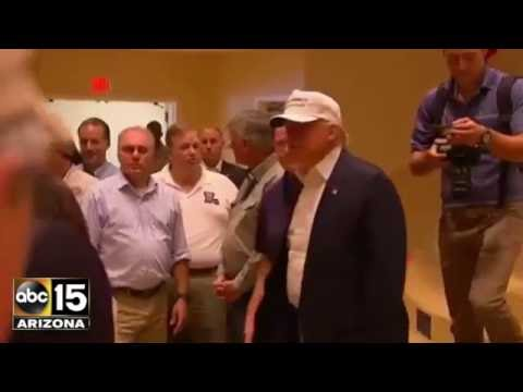 Devastating! Donald Trump & Gov. Mike Pence Visit Flooded Louisiana