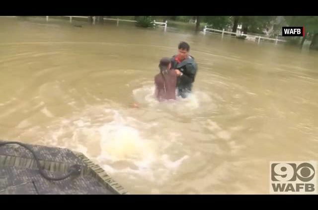 Woman, Dog Rescued From Sinking Car In Louisiana Flooding