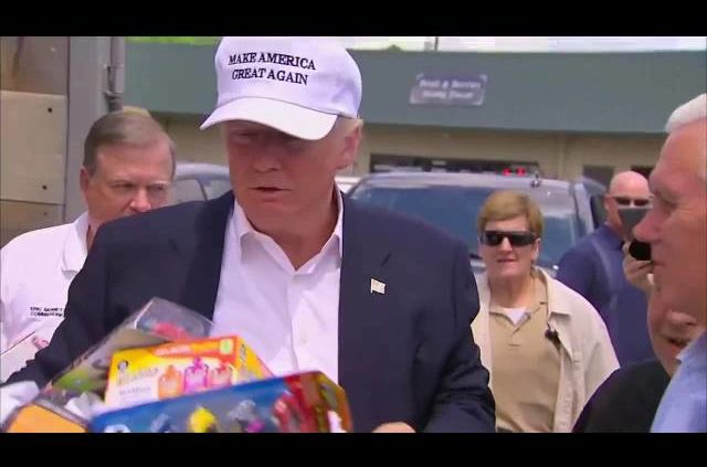 Donald Trump Visits Louisiana, Hands Out Supplies In Flood-hit Baton Rouge, Ascension