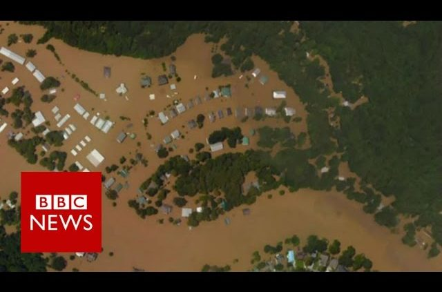 Louisiana Flooding: Before And After - BBC News