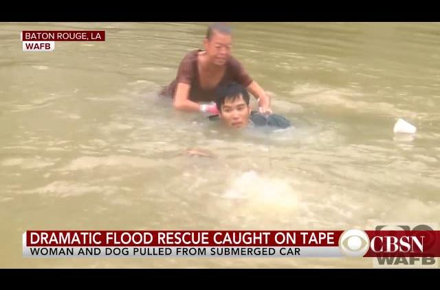 Watch Dramatic Flood Rescue In Louisiana