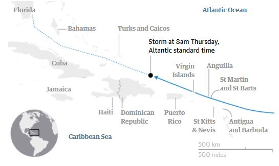 hurricane irma expected path
